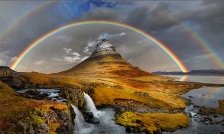 ¿Por qué el arcoíris es un arco?
