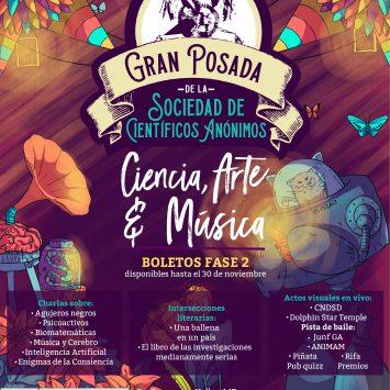 Gran posada de la SCA: festival de ciencia + arte + música