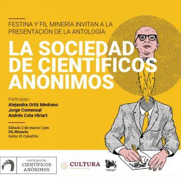 """Presentación """"Antología de divulgación científica SCA"""" en FIL MINERÍA"""